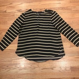 Zara Basic striped blouse